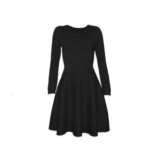 Emma - klassisches Strickkleid in schwarz